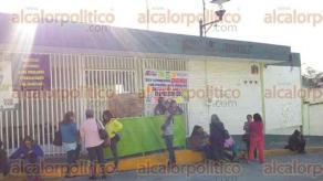 Xalapa, Ver., 29 de septiembre de 2016.- Docentes adheridos a la SNTE de la escuela primaria