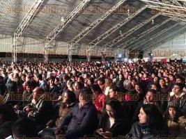 Perote, Ver., 30 de septiembre de 2016.- La noche de este viernes la agrupaci�n pop Playa Limbo ameniz� con su m�sica a todas las personas que asistieron al Teatro del Pueblo de la Expoferia Perote 2016.