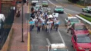 Xalapa, Ver., 20 de octubre de 2016.- Un grupo de aproximadamente 25 personas, marcharon al centro de la ciudad en contra del maltrato animal, la ma�ana de este jueves.