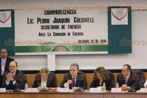 Ciudad de M�xico, 25 de octubre de 2016.- El secretario de Energ�a, Pedro Joaqu�n Coldwell comparece ante la Comisi�n de Energ�a de la C�mara de Diputados. Legisladores le cuestionan sobre la pol�tica de energ�a verde en el pa�s.
