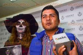 Xalapa, Ver., 25 de octubre de 2016.- Marco Dom�nguez inform� de la sexta edici�n del Festival Catrinas en el municipio de Misantla, donde esperan lleguen participantes de la Ciudad de M�xico, Puebla y San Luis Potos�.