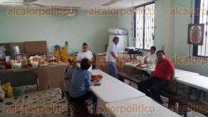 Coatzacoalcos, Ver., 1 de diciembre de 2016.- Inician las labores para dar alimento a más de 12 mil peregrinos que se espera lleguen al Santuario de la Virgen morena en este municipio durante los primeros días de diciembre.
