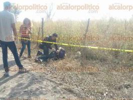 Soledad de Doblado, Ver., 5 de diciembre de 2016.- En un camino que comunica a la localidad de Oaxaquilla con Mata Brujas, un hombre originario de esa zona fue encontrado muerto de un balazo en la cabeza. El cuerpo fue trasladado al SEMEFO de Boca del Río.