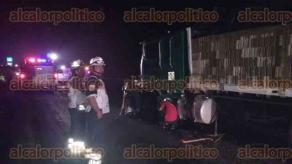 Martínez de la Torre, Ver., 21 de enero de 2017.- La madrugada de este sábado se registró un fatal accidente en la carretera federal 129 Amozoc-Nautla, a la altura de la comunidad de María de la Torre.