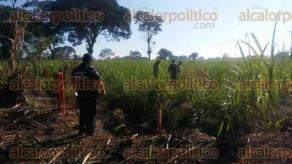 Omealca, Ver., 21 de enero de 2017.- Fue localizado un nuevo derrame de gasolina en un ducto de PEMEX, a la altura de la comunidad Emiliano Zapata.
