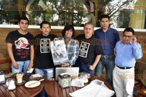 Xalapa, Ver., 21 de febrero de 2017.- En conferencia de prensa organizadores invitaron al estreno del documental