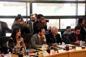 Ciudad de México, 22 de febrero de 2017.- El canciller Luis Videgaray Caso se reunió este mediodía con la Junta de Coordinación Política de la Cámara de Diputados, presidida por Jesús Zambrano.