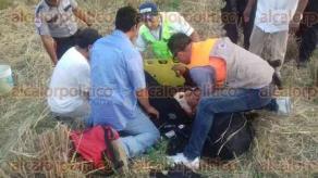 Tierra Blanca, Ver., 27 de febrero de 2017.- Este lunes, alrededor de las 18:00 horas, una patrulla de la Policía Estatal volcó en la carretera federal La Tinaja-Cosamaloapan, a la altura de la localidad de Joachín.