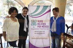 Xalapa., Ver., 23 de marzo de 2017.- Mujeres empresarias pertenecientes a