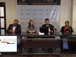 Xalapa, Ver., 24 de marzo de 2017.- Anuncian en conferencia de prensa las condiciones climáticas para la próxima semana, prevén caída de granizo.