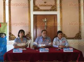 Xalapa, Ver., 24 de marzo de 2017.- Anunciaron en conferencia de prensa lo que será la colecta de medicamentos para Cáritas del 31 de marzo al 2 de abril.