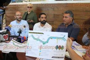 Xalapa, Ver., 28 de marzo de 2017.- En conferencia de prensa, miembros del Colectivo Ciudad a Pie, anunciaron inauguración de Vía Recreativa dominical para este domingo.