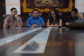 Xalapa, Ver., 29 de marzo de 2017.- Rueda de prensa para informar sobre el III Congreso Internacional de Derechos Animales, en la sala de expresidentes de Palacio municipal.