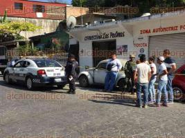 Papantla, Ver., 22 de abril de 2017.- La tarde de este sábado, una persona fue asesinada en el interior del bar