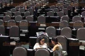 Ciudad de México, 25 de abril de 2017.- Intensa sesión se vivió en la Cámara de Diputados entre MORENA, PRD y MC contra PRI, PAN, PANAL y PVEM pues se exige investigar a Andrés Manuel López Obrador por el presunto manejo de recursos de procedencia dudosa debido al caso de la excandidata de MORENA, Eva Cadena.