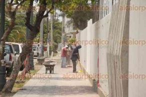 Veracruz, Ver., 28 de abril de 2017.- Se reanudaron los trabajos en el mural