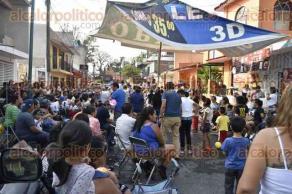 Xalapa, Ver., 30 de abril de 2017.- Vecinos del barrio El Dique, organizaron un festival para celebrar el Día del Niño.