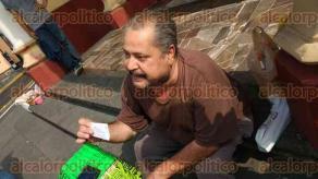 Xalapa, Ver., 22 de mayo de 2017.- Martín Benítez Bretón comenzó una huelga de hambre por falta de pagos de SESVER a la empresa