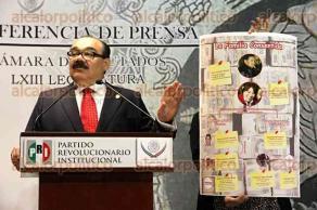 Ciudad de México, 25 de mayo de 2017.- El diputado federal, Jorge Carlos Ramírez, denunció rebase de tope en campaña de MORENA y Delfina Gómez en el Edomex; además le da el beneficio de la duda a Rocío Nahle ante acusaciones de ser operadora financiera de AMLO.