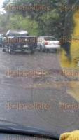 Xalapa, Ver., 26 de junio de 2017.- Vecino denuncia que pese a que SIOP hizo reparación del Puente Inferior Vehicular (PIV)