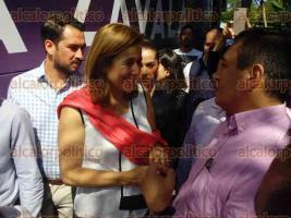 Coatepec, Ver., 28 de junio de 2017.- Llega Margarita Zavala, embajadora de la plataforma