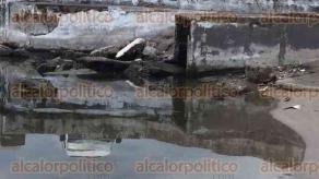 Veracruz, Ver., 26 de julio de 2017.- Algunos turistas que caminan por la playa Regatas se encuentran con el drenaje pluvial que desemboca en esta zona, por lo que optan por pasar de largo y no meterse al mar.