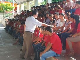 16 de agosto de 2017.- El delegado de CONAFE inició su gira de trabajo en las regiones de Papantla, Tihuatlán y San Rafael; sostuvo reuniones con las figuras educativas participantes en el proceso formativo del ciclo escolar 2017-2018.