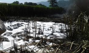 Ixtaczoquitlán, Ver., 19 de agosto de 2017.- Informa PEMEX que el incendio de ducto provocado por una toma clandestina quedó sofocado, aclara que no existió explosión.