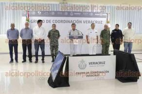 Emiliano Zapata, Ver., 20 de agosto de 2017.- El gobernador Miguel Ángel Yunes Linares presidió la 37 sesión ordinaria del Grupo de Coordinación Veracruz, en el 63 Batallón de Infantería zona 26/a Militar.