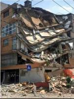 Ciudad de México, 19 de septiembre de 2017.- Luego del sismo registrado la tarde de este martes, se reporta el derrumbe de al menos 49 edificios en la zona Centro.