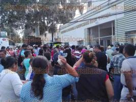 Xalapa, Ver., 19 de septiembre de 2017.- Este martes, campesinos se manifestaron en las oficinas de SEDARPA.