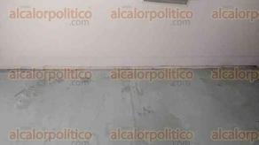 Xalapa, Ver., Ver., 21 de septiembre de 2017.- Padres de familia denunciaron grietas y posibles daños a la escuela primaria