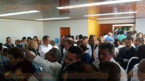 Xalapa, Ver., 22 de septiembre de 2017.- Al velorio del exlíder moral de la sección 32 del SNTE, Juan Nicolás Callejas Arroyo, han llegado líderes de partidos, representantes populares y de diversas siglas sindicales.