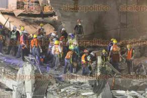 México, CDMX, 25 de septiembre de 2017.- Rescatistas de diversas agrupaciones de México, El Salvador, Israel, Japón, España, entre otros países, trabajan en zonas afectadas tras el sismo del pasado 19 de septiembre.