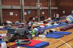 Ciudad de México., 25 de septiembre de 2017.- En el Centro Universitario México en la Narvarte se instaló un albergue que da hospedaje, servicio médico y alimentación a alrededor de 100 personas afectadas por el sismo del pasado 19 de septiembre.