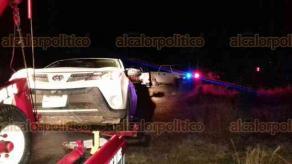 Maltrata, Ver., 17 de noviembre de 2017.- Accidente automovilístico a la altura de La Estancia, sobre la autopista Puebla-Veracruz.
