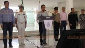 Veracruz, Ver., 19 de noviembre de 2017.- El gobernador de Veracruz, Miguel Ángel Yunes Linares, encabezó la reunión del Grupo Coordinación Veracruz donde informó acerca de los avances en materia de seguridad.