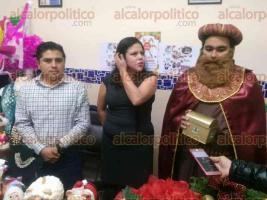 """Xalapa, Ver., 21 de noviembre de 2017.- El regidor sexto del ayuntamiento, Heriberto Ponce Miguel, invitó a los xalapeños a asistir a la expo venta """"Fiesta Navideña"""", este 27 y 28 de noviembre."""