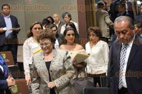 Xalapa, Ver., 21 de noviembre de 2017.- La titular de la Secretaría de Trabajo, Prevención Social y Productividad, Silvia Edith Mota Herrera, compareció ante los diputados de la Comisión Permanente de Trabajo y Prevención Social del Congreso local.