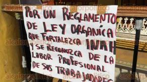 Veracruz, Ver., 22 de noviembre de 2017.- Los afectados acusan que desde la creación de la Secretaría de Cultura se han violentado sus derechos laborales.