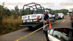 Acayucan, Ver., 16 de enero de 2018.- Entre las localidades de San Miguel y Corral Nuevo, elementos de la Policía Naval y Estatal se enfrentaron con hombres armados que iban en un vehículo, siendo abatidas cuatro personas.