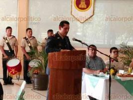 Coatzintla, Ver., 19 de febrero de 2018.- Ceremonia para celebrar el 105 aniversario del Ejército en el Séptimo Batallón de Infantería.