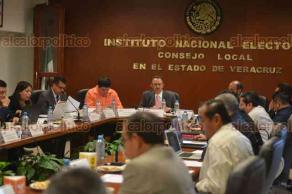Xalapa, Ver., 20 enero 2018.- Sesión extraordinaria del Consejo local del Instituto Nacional Electoral, presidida por el consejero presidente Josué Cervantes Martínez; también asistieron representantes de partidos.