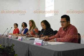 """Xalapa, Ver., 23 de febrero de 2018.- Presentación del """"Sistema Integrado de Estadística sobre Violencia contra las Mujeres"""", en el auditorio Leonardo Pasquel del OPLE."""