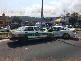 Xalapa, Ver., 17 de marzo de 2018.- Este sábado se registró fuerte accidente automovilístico sobre el bulevar Xalapa-Banderilla, a la altura del restaurante Guamuchil, en el que una persona murió.