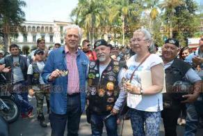 Xalapa, Ver., 17 de marzo de 2018.- 20 motoclubs participaron en la