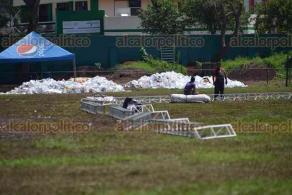 Xalapa, Ver., 20 de marzo de 2018.- La Alcaldía informó que ya no se prestará el Deportivo Colón para actividades que pongan en riesgo la infraestructura; además, se decidió restringir la comercialización de todo tipo de bebidas embriagantes.