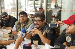 Veracruz, Ver., 21 de marzo de 2018.- Motociclistas de la Federación Nacional