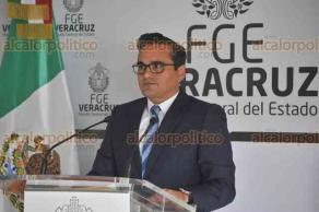 Xalapa, Ver., 19 de abril de 2018.- El fiscal Jorge Winckler pidió a la PGR la emisión de ficha roja para la captura de Carol Jessica
