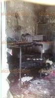 Xalapa, Ver., 21 de abril de 2018.- La mañana de este sábado se incendió una panadería ubicada en la calle Monte Sinaí, en la colonia Casa Blanca; no hubo heridos sólo cuantiosos daños materiales.
